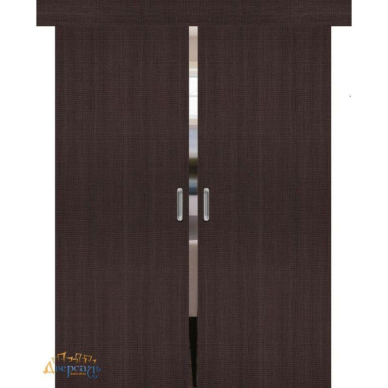 Двойная раздвижная дверь ПОРТА-50 wenge crosscut