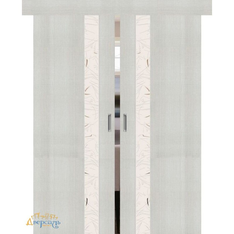 Двойная раздвижная дверь ПОРТА-51 bianco crosscut SA