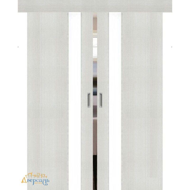 Двойная раздвижная дверь ПОРТА-51 bianco crosscut WW