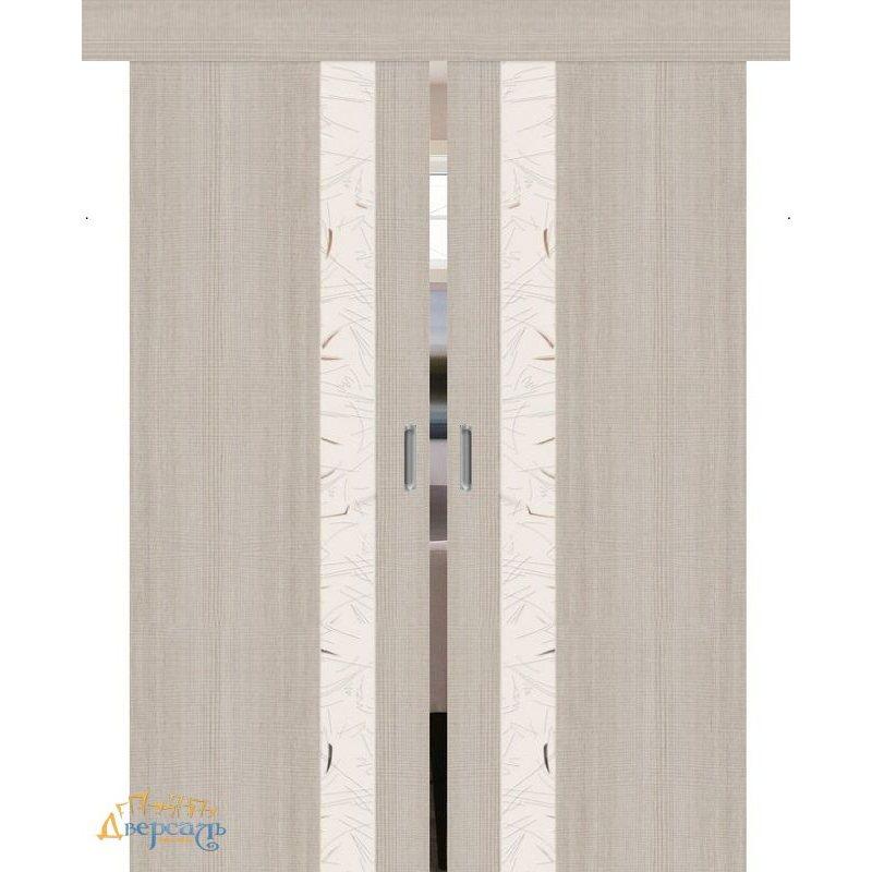 Двойная раздвижная дверь ПОРТА-51 cappuccino сrosscut SA