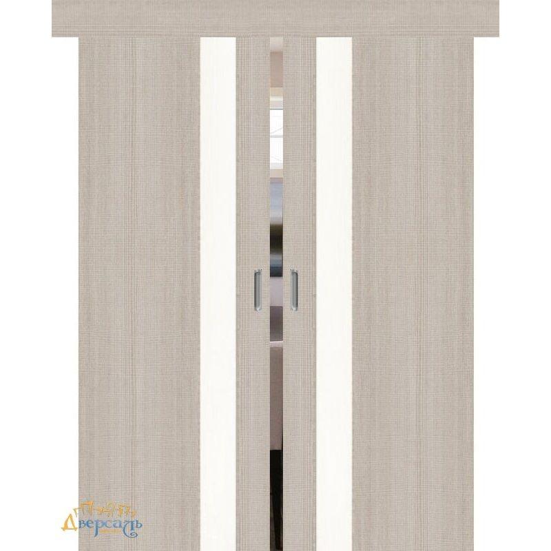 Двойная раздвижная дверь ПОРТА-51 cappuccino сrosscut WP
