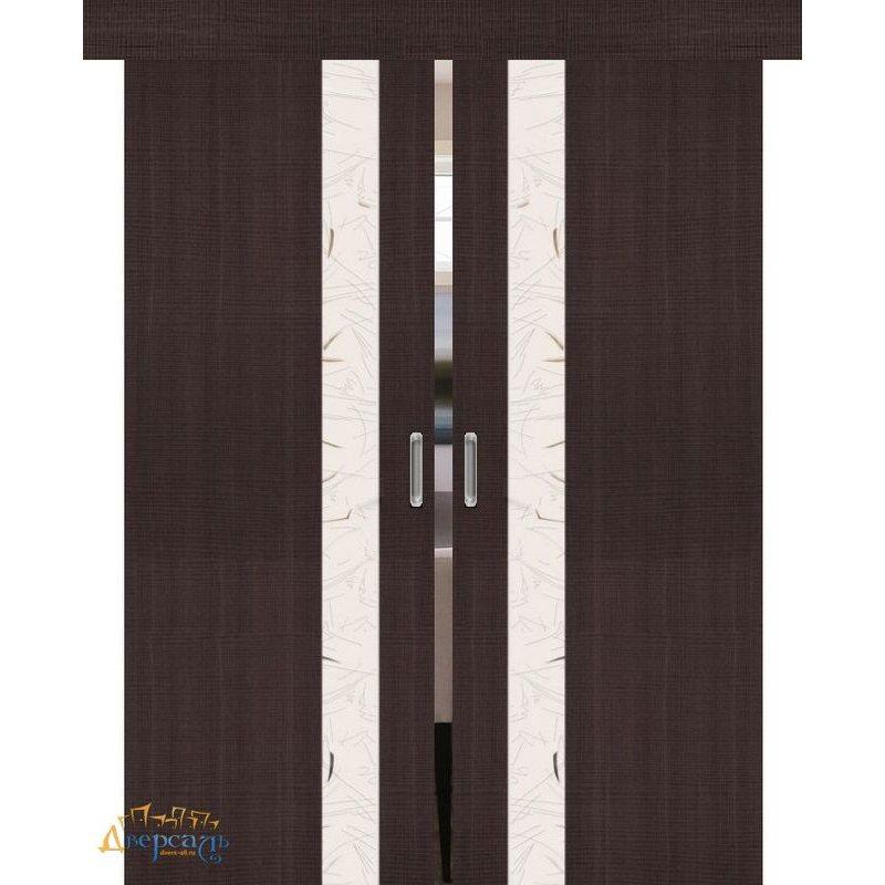 Двойная раздвижная дверь ПОРТА-51 wenge crosscut SA