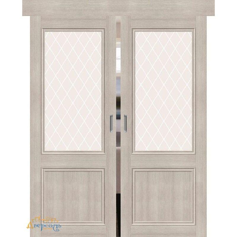 Двойная раздвижная дверь ПОРТА-63 cappuccino veralinga