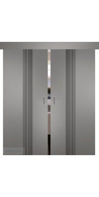 Двойная раздвижная дверь СЕВИЛЬЯ 16 софт графит