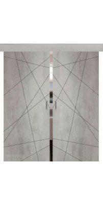 Двойная раздвижная дверь СЕВИЛЬЯ 26 бетон светлый