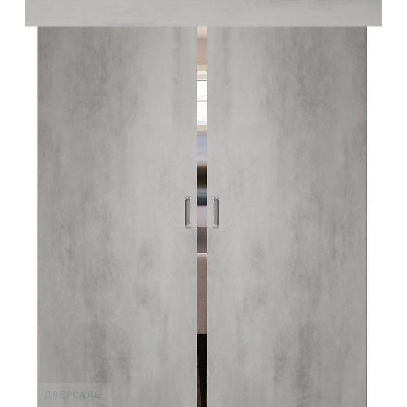 Двойная раздвижная дверь СЕВИЛЬЯ 32 бетон светлый