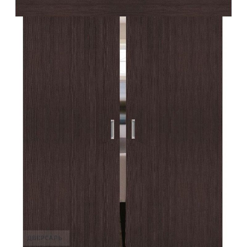 Двойная раздвижная дверь ТРЕНД-0 wenge veralinga