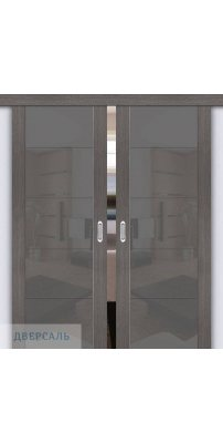 Двойная раздвижная дверь Vetro V4 grey veralinga/smoke