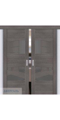 Двойная раздвижная дверь Vetro VG2 grey veralinga/smoke