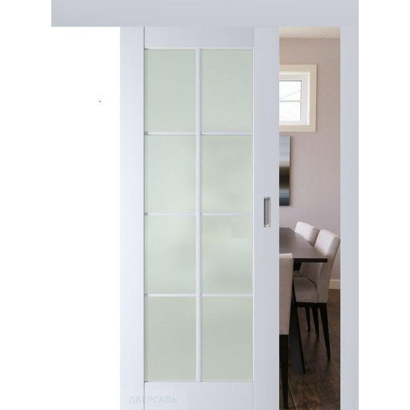 Раздвижная дверь 101U аляска, стекло матовое