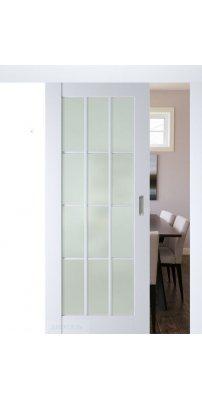 Раздвижная дверь 102U аляска, стекло матовое