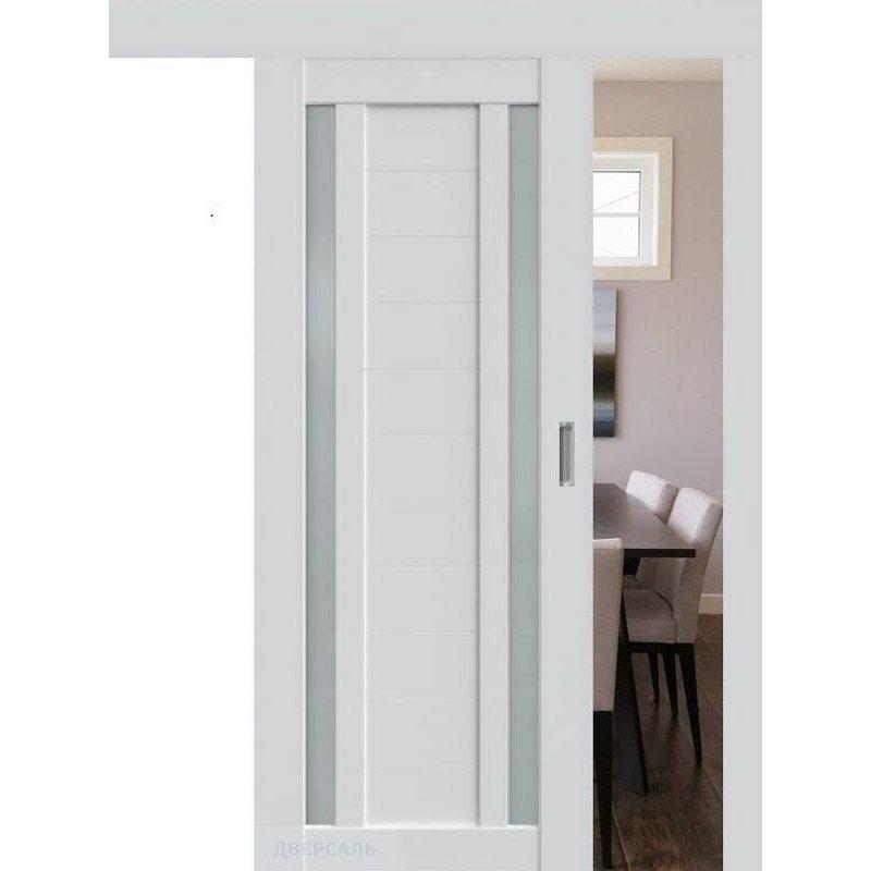 Раздвижная дверь 15U аляска, стекло матовое