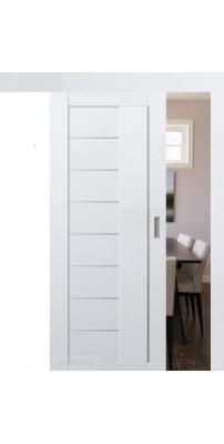Раздвижная дверь 17U аляска, стекло матовое