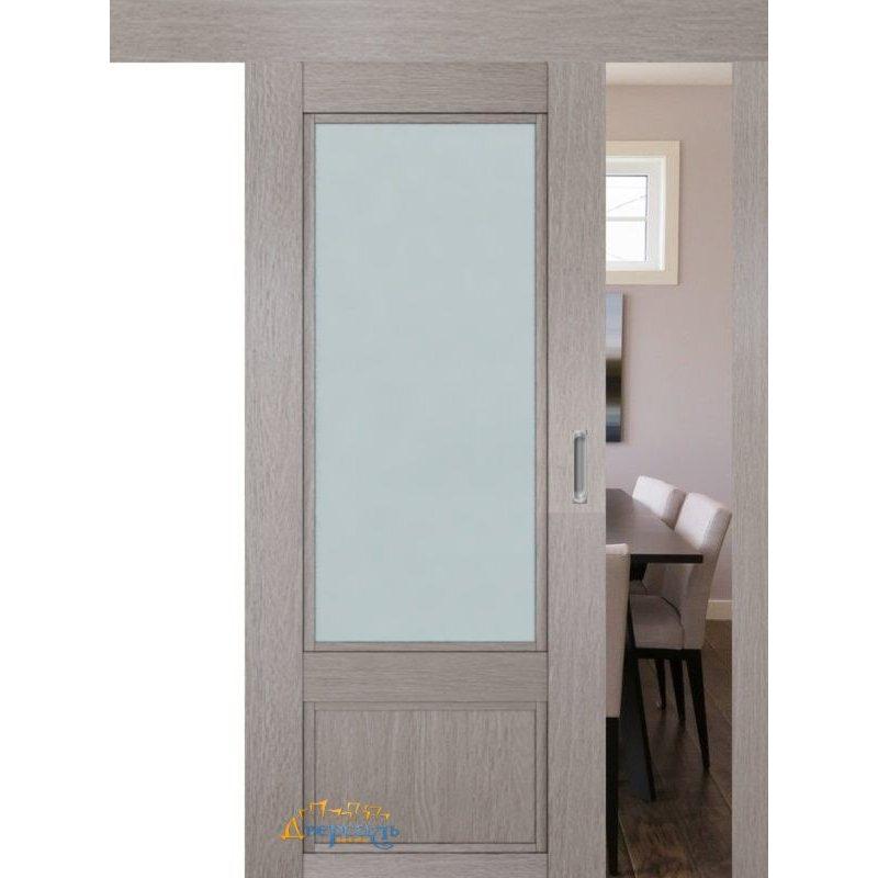 Раздвижная дверь 2.31XN стоун, стекло матовое