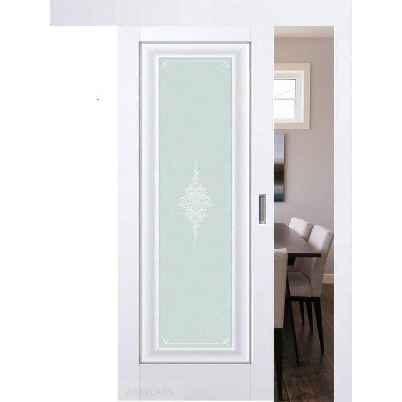 Раздвижная дверь 24U аляска, стекло кристал матовое