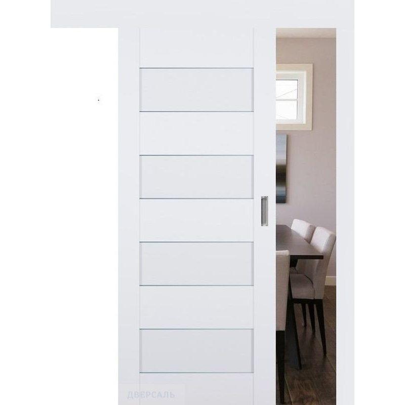 Раздвижная дверь 45U аляска, стекло графит