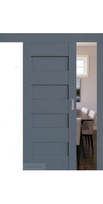 Раздвижная дверь 45U антрацит, стекло графит