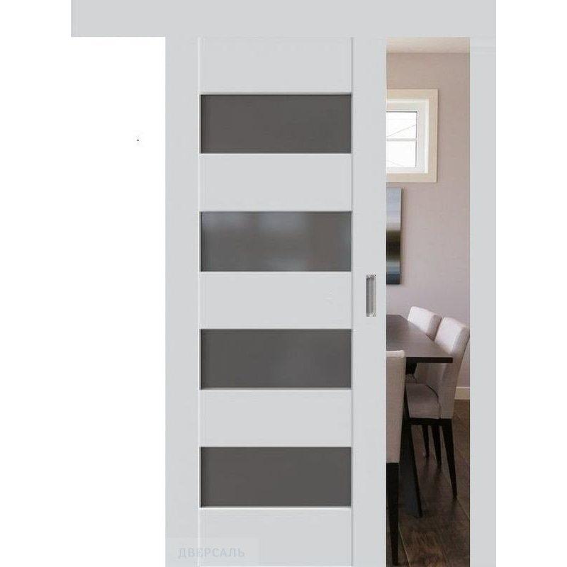 Раздвижная дверь 46U аляска, стекло графит