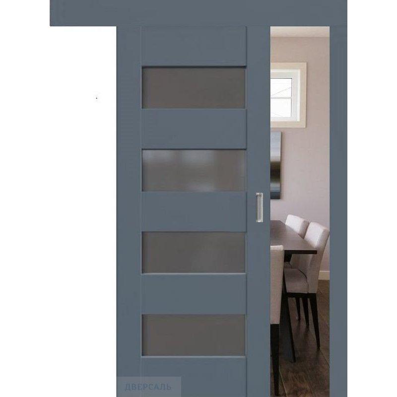 Раздвижная дверь 46U антрацит, стекло графит
