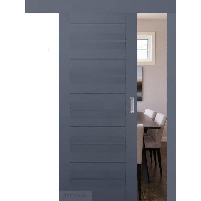 Раздвижная дверь 48U антрацит, стекло графит