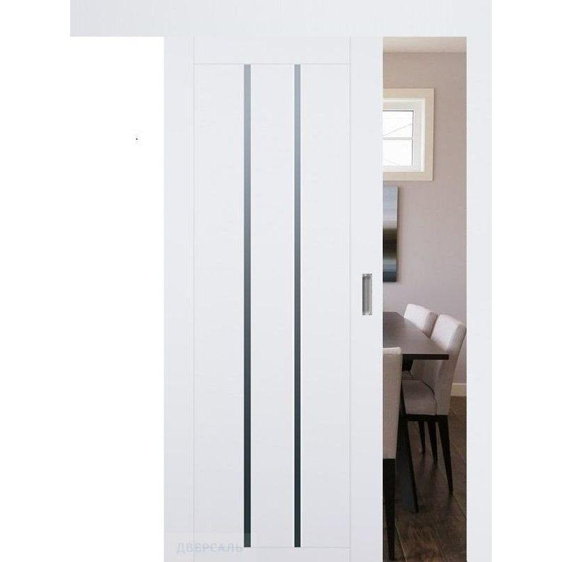 Раздвижная дверь 49U аляска, стекло графит
