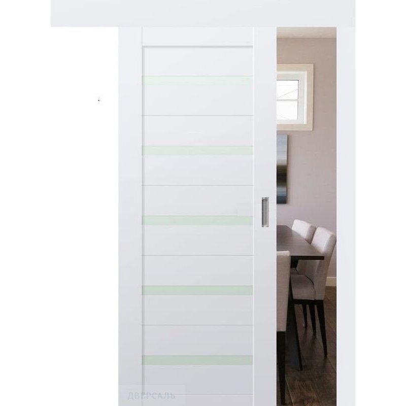 Раздвижная дверь 7U аляска, стекло матовое