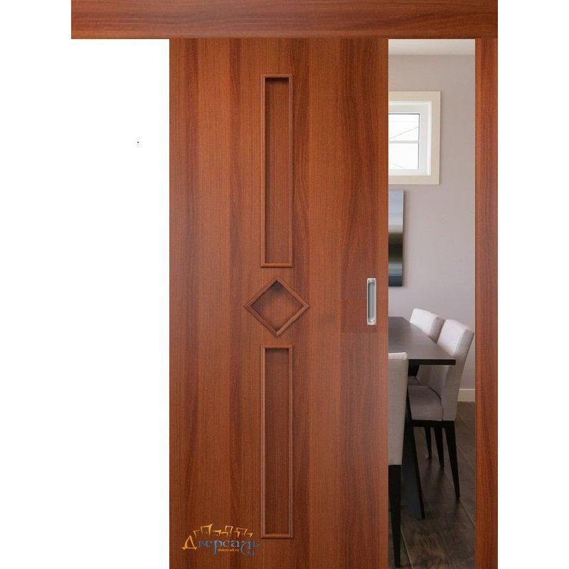 Раздвижная дверь 9 итальянский орех ПГ
