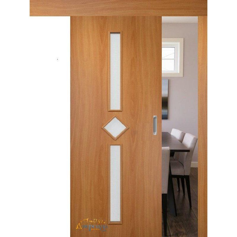 Раздвижная дверь 9 миланский орех ПО