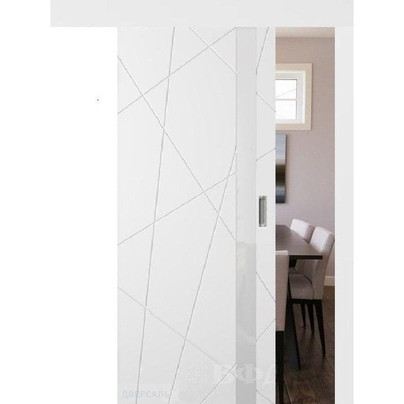 Раздвижная дверь ФЛИТТА белая эмаль ПО