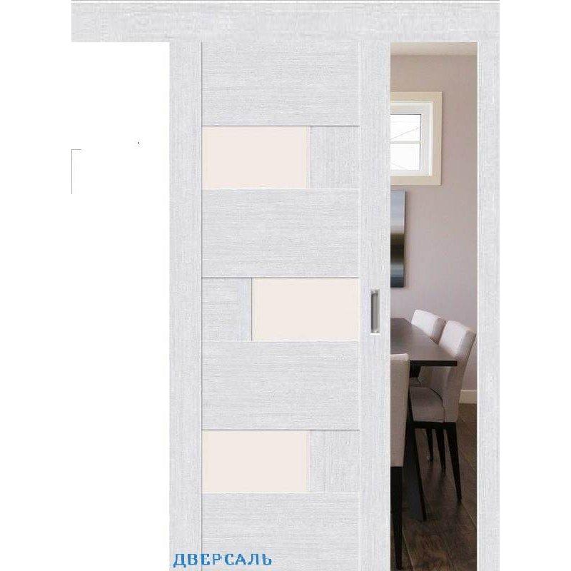 Раздвижная дверь ЛЕГНО-39 milk oak ПO