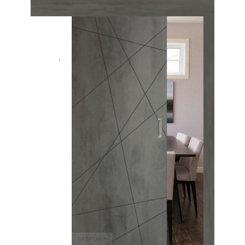 Раздвижная дверь СЕВИЛЬЯ 26 бетон темный