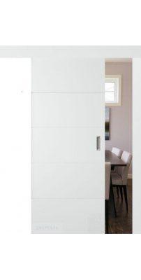 Раздвижная дверь ТРИВИА белая эмаль ПГ