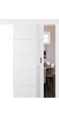 Раздвижная дверь ТРИВИА белая эмаль ПО