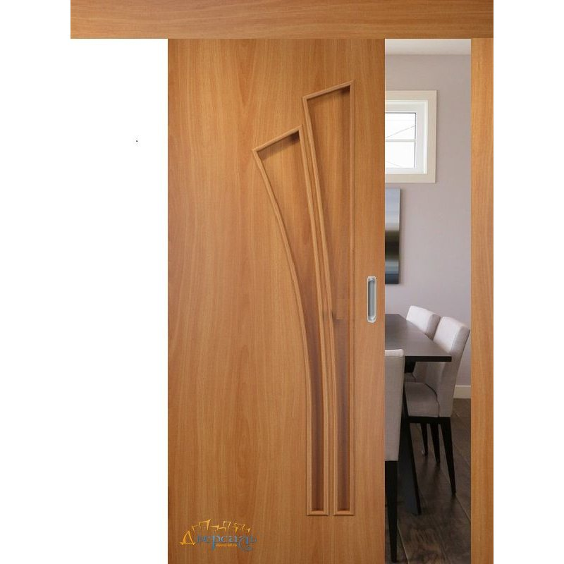 Раздвижная дверь ВЕТКА миланский орех ПГ