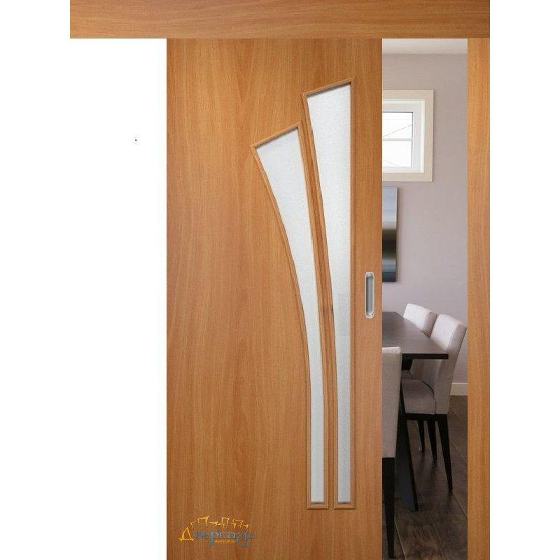 Раздвижная дверь ВЕТКА миланский орех ПО