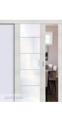 Раздвижная дверь Vetro V4 bianco veralinga/white waltz