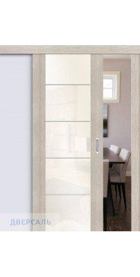Раздвижная дверь Vetro V4 cappuccino veralinga/white pearl