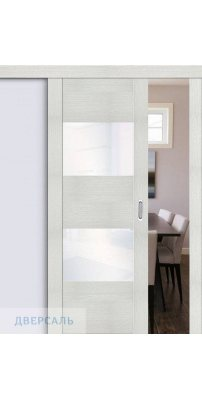 Раздвижная дверь Vetro VG2 bianco veralinga/white waltz