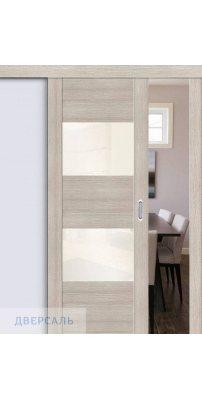 Раздвижная дверь Vetro VG2 cappuccino veralinga/white pearl