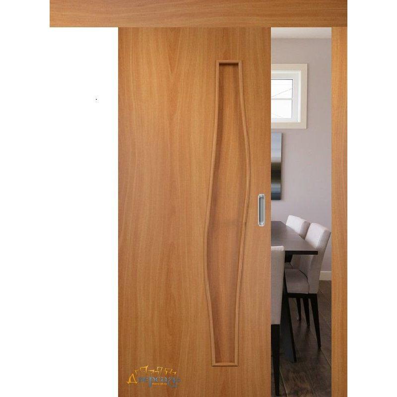 Раздвижная дверь ВОЛНА миланский орех ПГ