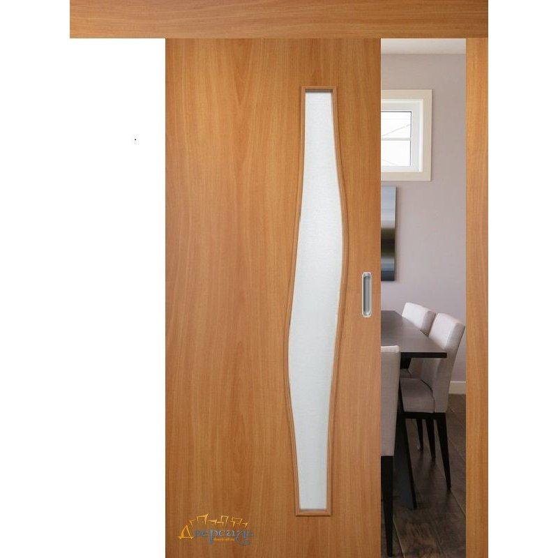 Раздвижная дверь ВОЛНА миланский орех ПО