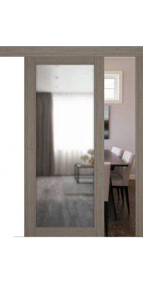 Раздвижная дверь Atum Pro 32 Reflex Brun Oak зеркало