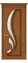 Межкомнатная дверь ЛИЛИЯ орех ПО