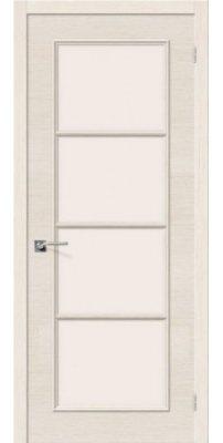 Межкомнатная дверь ЕВРО-41 беленый дуб ПО