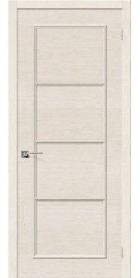 Межкомнатная дверь ЕВРО-40 беленый дуб ПГ