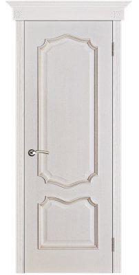 Межкомнатная дверь ПРЕМЬЕРА белая патина (тон 17) ПГ