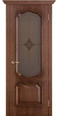 Межкомнатная дверь ПРЕМЬЕРА голд ПО стекло бронза ромб
