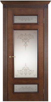 Межкомнатная дверь РИМ коньяк красный (тон 19) ПО стекло кристалл № 75