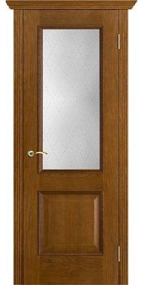 Межкомнатная дверь ШЕРВУД античный дуб (тон 14) ПО стекло классик