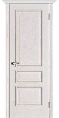 Межкомнатная дверь ВЕНА белая патина ПГ